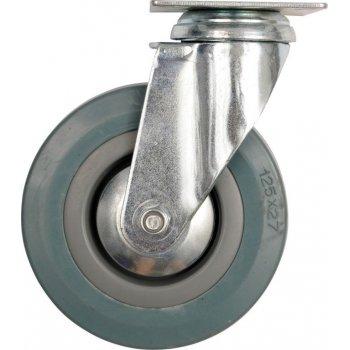 Kolečko otočné, gumové - 45 kg, 100/26/134 mm