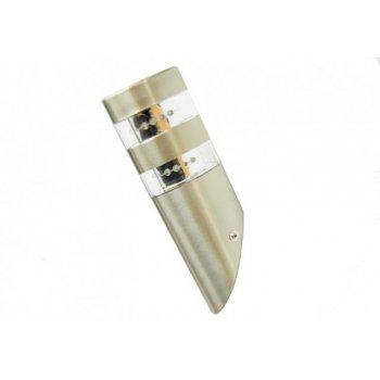 LED nerezová nástěnná lampa Garth s 2 x 12 LED diodami 23,5 cm D00084