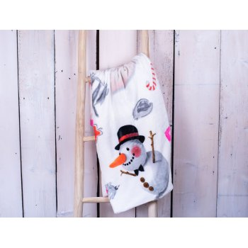 Deka z mikrovlákna 150 x 200 cm – Snowman