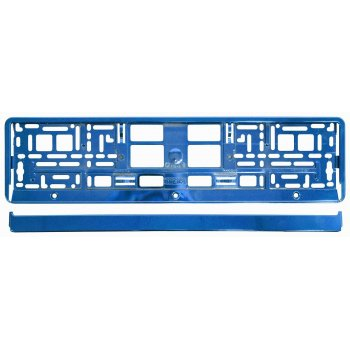 Podložka pod SPZ - metalická modrá