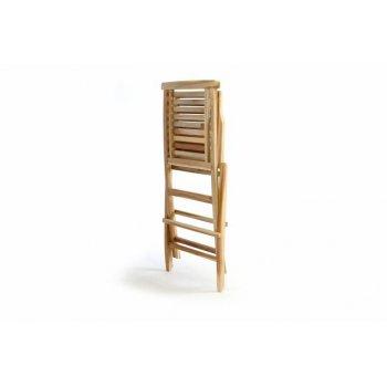 """Zahradní židle skládací DIVERO """"Hantown"""" z masivního týkového dřeva"""