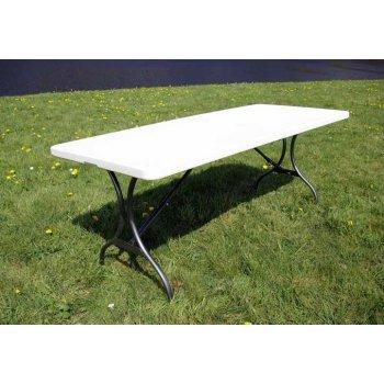 Zahradní skládací stůl - bílý 180 cm