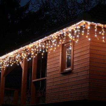 VOLTRONIC světelný déšť - 600 LED, teplá/studená bílá