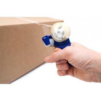 Mini ruční odvíječ lepící pásky - modrý