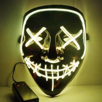 Maska se světelným efektem - The Purge - Žlutá