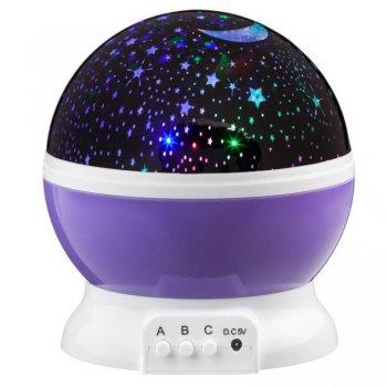 LED Star Light projektor noční oblohy - fialová