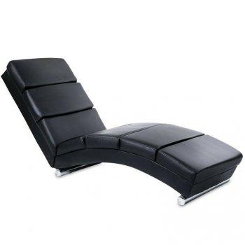 Relaxační lehátko, černé