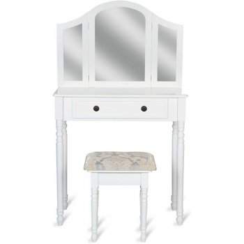 Toaletní stolek se stoličkou, bílý