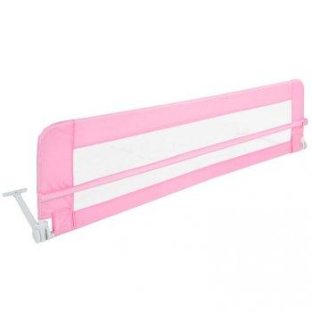 Dětská zábrana na postel, 150 cm, růžová
