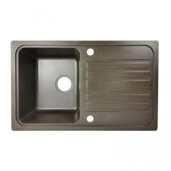 Granitový dřez s odkapávačem, hnědý