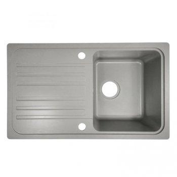 Granitový dřez s odkapávačem, šedý