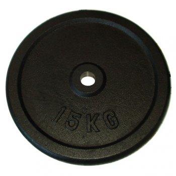 Litinový kotouč (závaží) na činky 15kg - 25 mm
