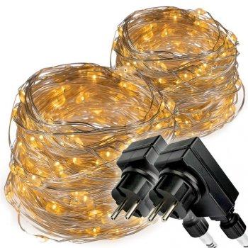 Světelný řetěz - 2 x 200 LED, teplá bílá