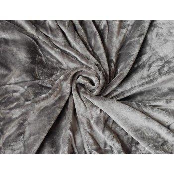 Mikroplyšové prostěradlo 90 x 200 cm - tmavě šedá