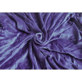 Mikroplyšové prostěradlo 90 x 200 cm - tmavě modrá