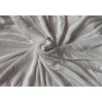 Mikroplyšové prostěradlo 90 x 200 cm - bílá