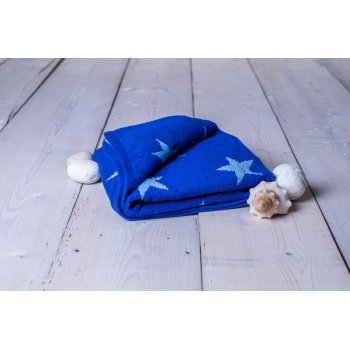 Osuška Stars - 70 x 140 cm, král.modrá