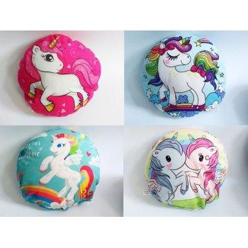 Kulatý polštářek - Unicorn