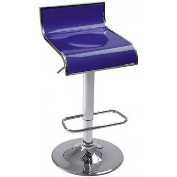 Plastová barová stolička, modrá