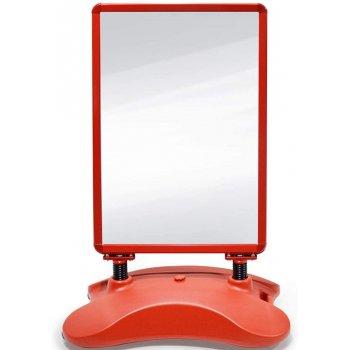 Reklamní stojan, červený, 635 x 1150 x 350 mm