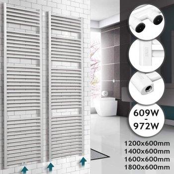 Koupelnový radiátor 1600 x 600 mm, bílý
