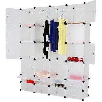 Šatní skříň s 18 přihrádkami, 145 x 180 x 37 cm