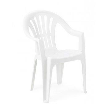 Židle nízká KONA - bílá