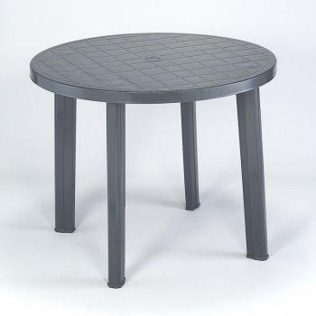 Plastový stůl TONDO - grafit