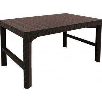 Zahradní stůl LYON rattan - hnědý