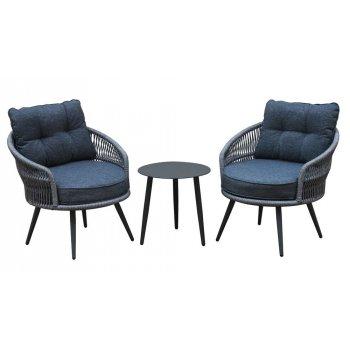 Hliníkový nábytek, vč. podušek - antracit