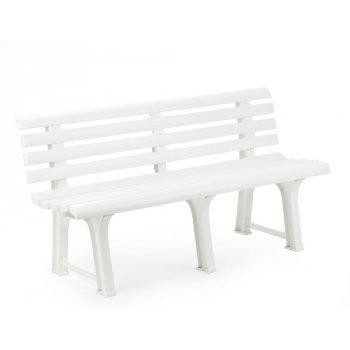 Plastová lavice ORCHIDEA - bílá