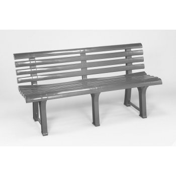 Plastová lavice ORCHIDEA - grafit