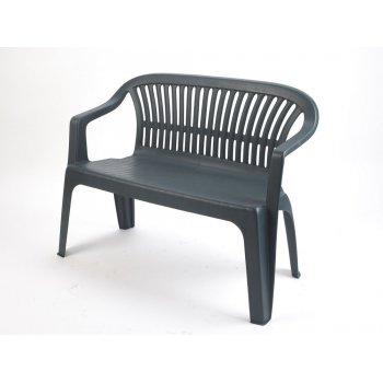 Plastová lavice DIVA - zelená