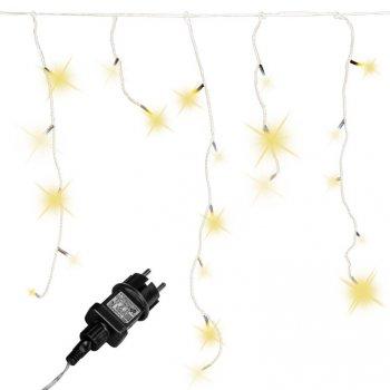 Vánoční světelný déšť - 15 m, 600 LED, teple bílý