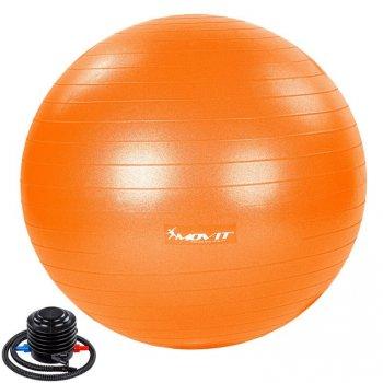 MOVIT Gymnastický míč s nožní pumpou, 75 cm, oranžový