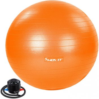 MOVIT Gymnastický míč s nožní pumpou, 85 cm, oranžový