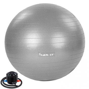 MOVIT Gymnastický míč s nožní pumpou, 75 cm, šedý