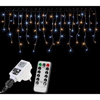 VOLTRONIC světelný déšť - 400 LED, teplá a studená bílá