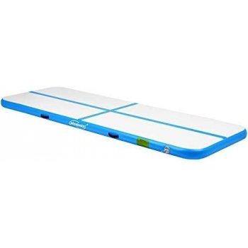 Nafukovací gymnastická žíněnka, 300 x 100 x 10 cm, modrá