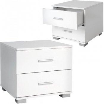 Sada nočních stolků, 2 kusy, bílé, 40 x 40 x 35 cm