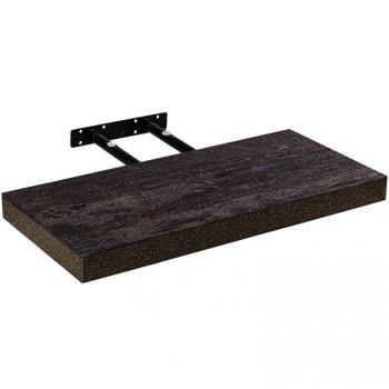 Stilista nástěnná police Volato, 100 cm, tmavé dřevo