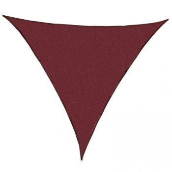 Stínící zahradní plachta trojúhelníková, červená, 360 cm