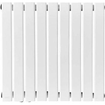 Radiátor s připojením na střed, bílý, 600 x 614 x 52 mm