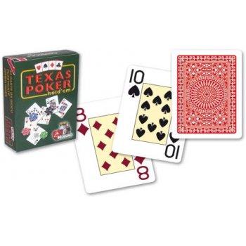 Modiano Duplex Jumbo 2 rohy papírové karty - Červené