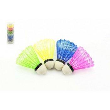 Míček na badminton barevný 5ks v tubě 7x19x7cm