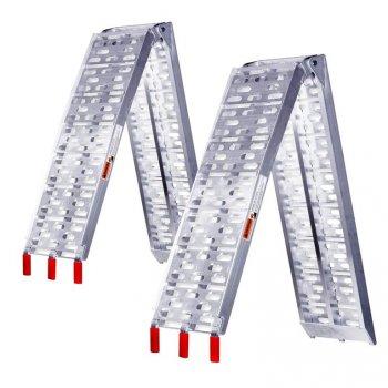 Sada nájezdových ramp, sklopná, 2 ks, hliník