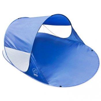 Pop-up stan, přístřešek na pláž, 240 x 140 x 100 cm, modrý
