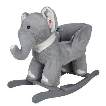 Plyšové houpací zvířátko slon, 68 x 33 x 47 cm