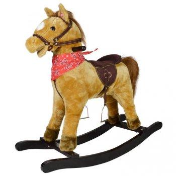 Houpací kůň Morgan se zvukovými efekty, 74 x 30 x 64 cm