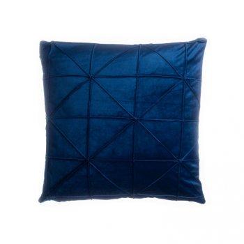 Povlak na polštář Amy, 45 x 45 cm, tm. modrá
